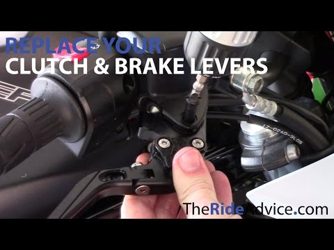 How to Replace Your Motorcycle Brake Lever and Motorcycle Clutch Lever