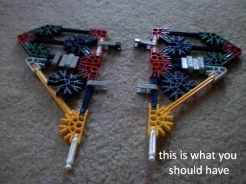 knex starscream instructions part 1/4 cockpit and wings