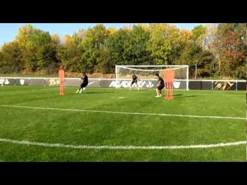 Soccer shooting exercise   The reverse pass to cross and finish drill   Nike Academy