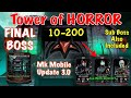 MK Mobile Tower Of HORROR All BOSS and Sub Boss   MK Mobile Update 3.0
