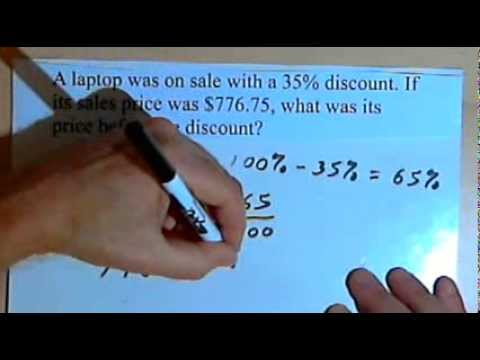 Percent Word Problems - more examples 060-4.3.b
