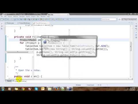 Swing CRUD Application on Eclipse and WindowBuilder