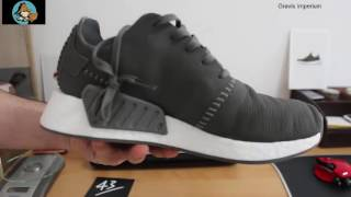 on sale 3596b 0d041 Adidas Wings + Horns NMD R2 Leather Grey Unboxing and Review