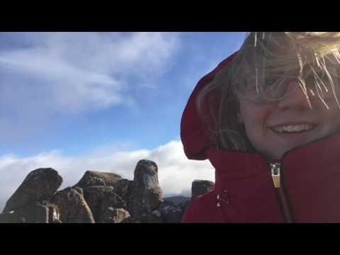 PhoeTravels: Blown away on Mt Wellington, Tasmania