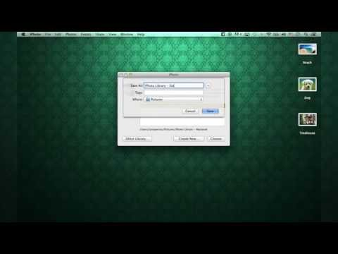 Create an External iPhoto Library