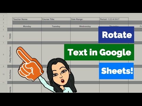 TechTip: Rotating Text in Google Sheets