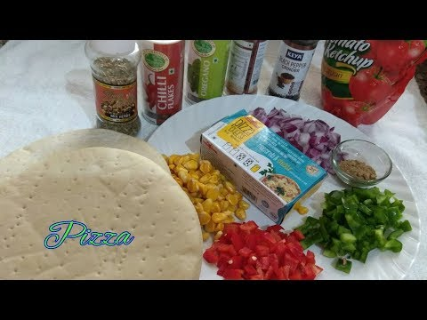 Dominos Style Mini pizza-Pizza Recipe on Pan -Pizza Recipe-Tawa Pizza Without Oven