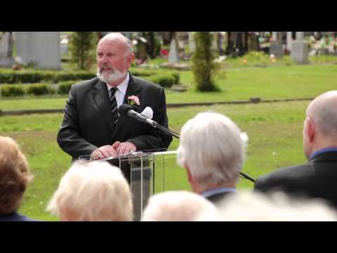 Memorial Service at Glasnevin Cemetery, at the ALONE Millennium Plot