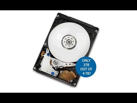 Use full capacity of hard drive larger than 2 terabytes