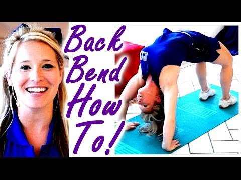 How To Do A Backbend For Cheer, Dance & Gymnastics Flexibility Stretches for Cheerleaders! Back Bend