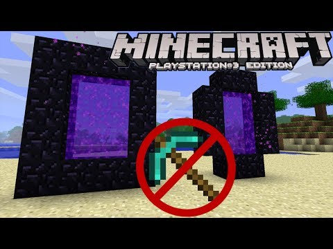 Minecraft (PS3 / XBOX360) How To Make A Netherportal Without a Diamond Pickaxe