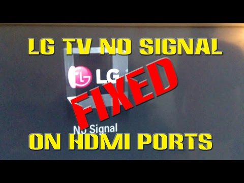 LG TV No Signal HDMI FIXED