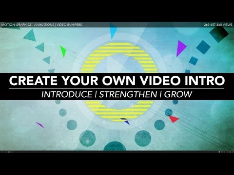 How to Create Your Own Video Intro | Video School Online