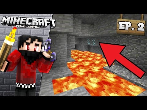 DIAMONDS! - MINECRAFT POCKET EDITION LET'S PLAY - EPISODE 2