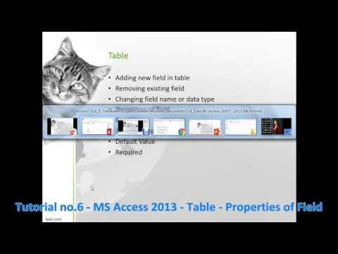 Tutorial no 6   MS Access 2013   Table   Properties of Field By Khezer Mustafa