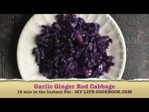 Instant Pot Garlic Ginger Red Cabbage