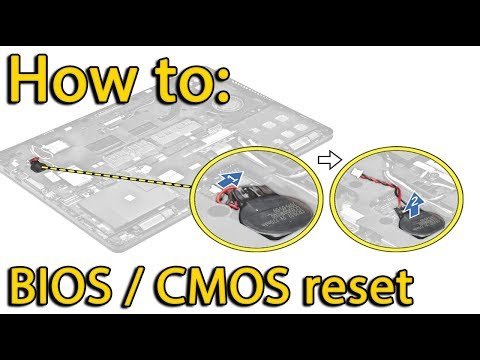 Reset BIOS settings Dell Latitude E7450 | CMOS battery replacement