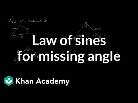 Law of sines for missing angle | Trig identities and examples | Trigonometry | Khan Academy