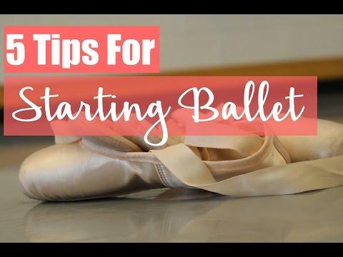 5 Tips For Starting Ballet