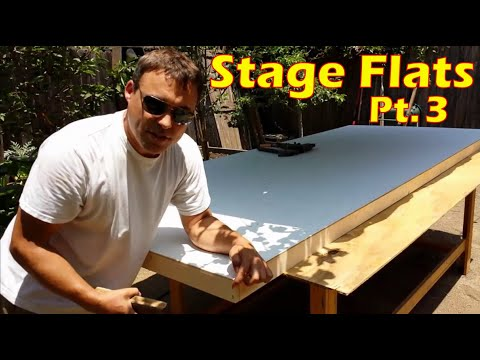 Build A Hollywood Flat - Prepping & Painting Wall Panels