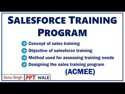 SALES FORCE TRAINING PROGRAM | Importance | Objectives | Methods | Process | ACMEE | ppt