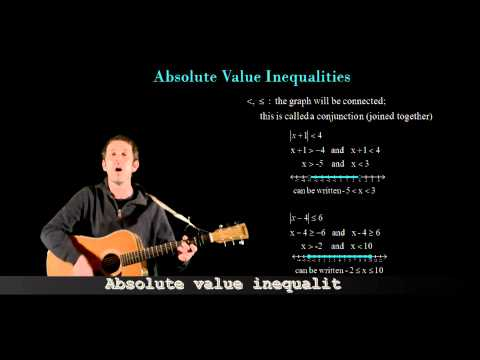 Math Tunes:  Absolute Value Inqualities