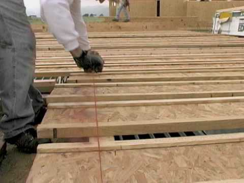 Cutting Floor Joists to Length