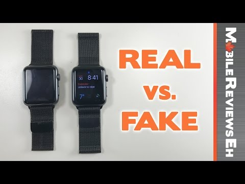 Worth the $240 dollar difference? REAL vs. FAKE Apple Watch Milanese Loop Comparison