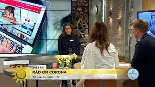Sjuksköterskan - här är vanligaste frågorna till 1177  - Nyhetsmorgon (TV4)