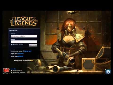 League of Legends Captain Fortune Login Screen + Music