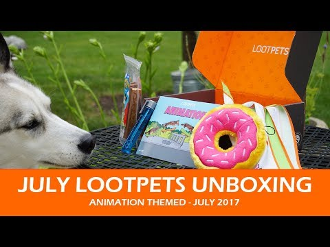 JULY LOOTPETS UNBOXING | July 2017 Animation Themed