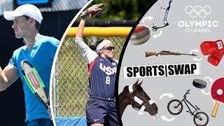 Tennis vs Softball with Vasek Pospisil & Haylie McCleney | Sports Swap