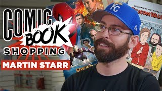 Spider man Homecoming Silicon Valleys Martin Starr Goes Comic Book Shopping With Collider