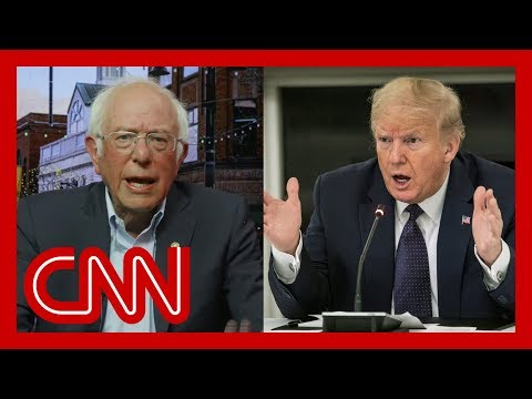 Bernie Sanders says Trump is trying to deflect from these two things