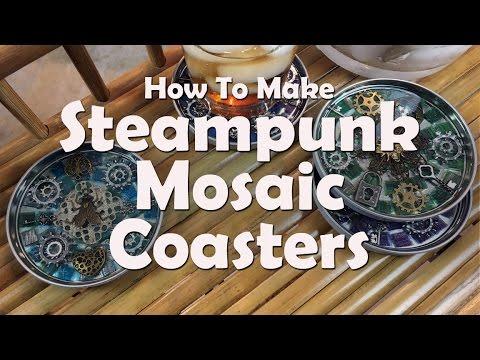 Mosaics Tutorials: How To Make Steampunk Mosaic Coasters