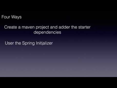 Four Ways to create a Spring Boot project