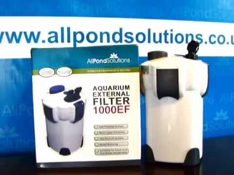 External Aquarium Filter Canister For Fish Tanks Setup Guide (1400EF) - All Pond Solutions