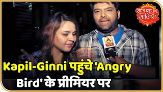 Kapil and Ginni at the screening of Angry Birds