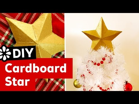 DIY 3D Cardboard Star Christmas Tree Topper | Sea Lemon