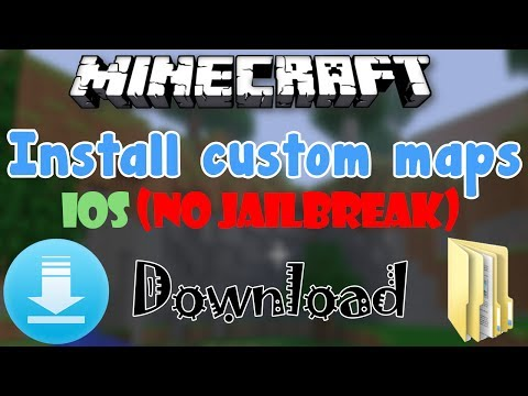 MinecraftPE: How To Install Custom Maps | iOS NO JAILBREAK