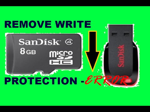 How to Remove write protection from USB [Flash drive/Pen drive/sdcard] using cmd
