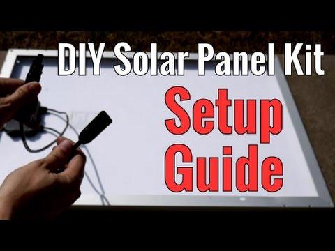 DIY Solar Panel Kit Step by Step Setup Guide