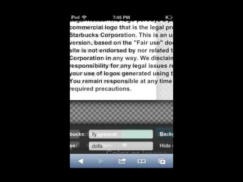 How To Make a Personalized Starbucks™ Logo