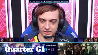 GEN vs G2 - Game 1 | Quarter Finals S10 LoL Worlds 2020 PlayOffs | Gen.G vs G2 eSports G1 full