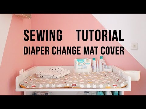 How to sew diaper change mat cover | Sewing tutorial