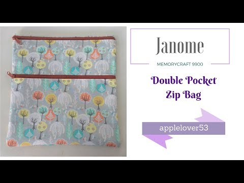 Sew A Double Pocket Zip Bag