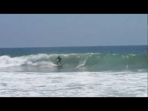 Great waves at Newport Beach