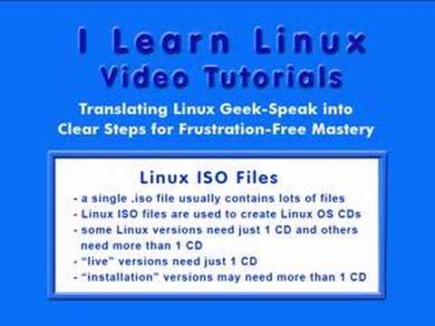 Linux ISO Files Contain the Linux OS for a Linux CD/DVD