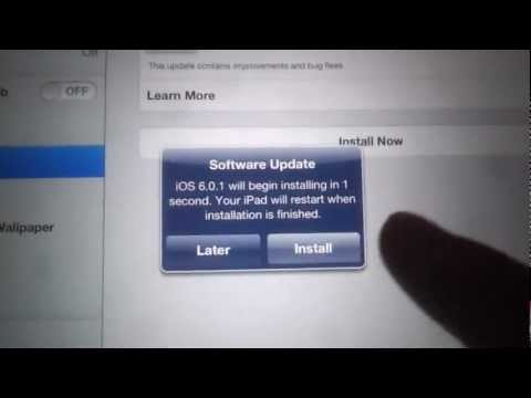 How to Update to iOS 6.0.1