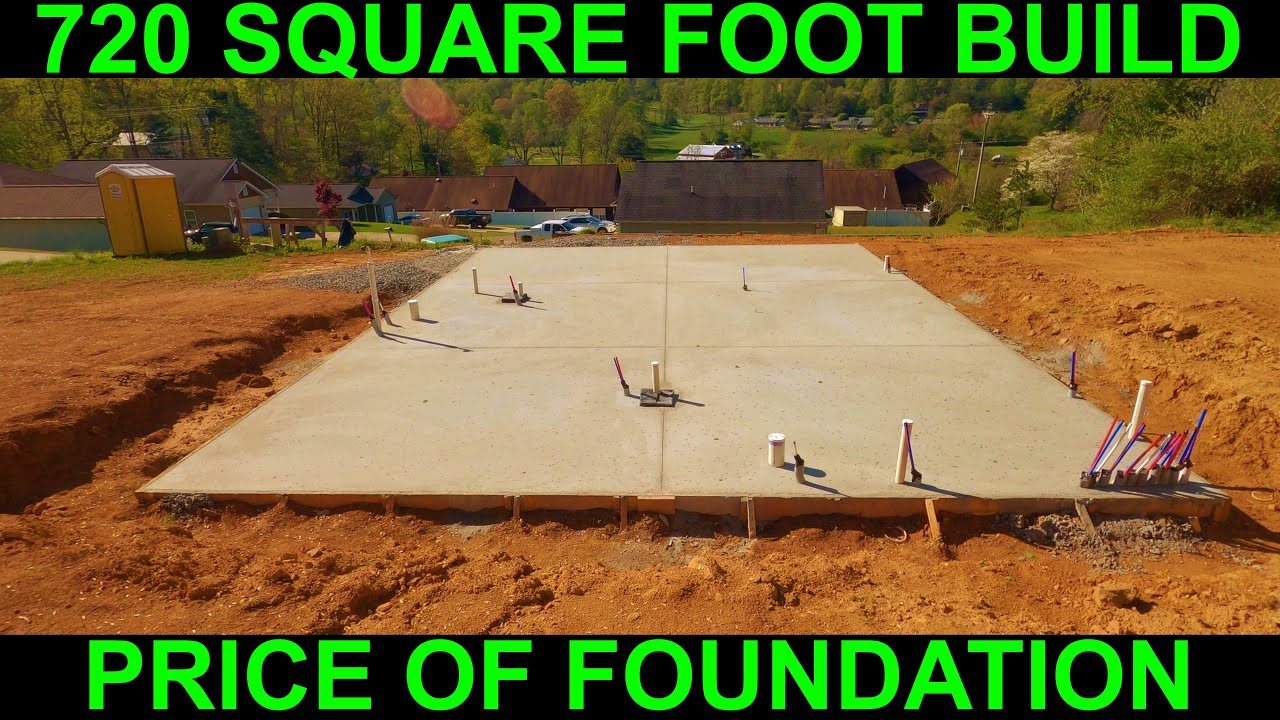 Cost of small house concrete slab foundation (720 square feet)